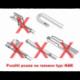 Sada přesných stěračů 55+51cm hák FORD HYUNDAI Alca Special