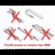 Sada přesných flat stěračů 45+45cm HÁK OPEL / VW/ FAVORIT Compass